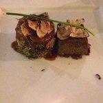 Viande, purée truffes noirs