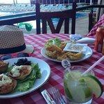the best caipirinha and crab meat and calamares