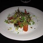 Organic carrot salad