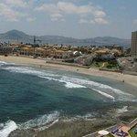 vista al mar mediterráneo y mar menor