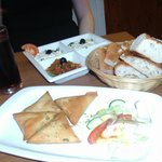 Starters Mixed Meze to share.