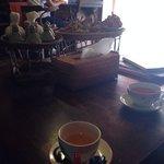 Tasse Tee nach der Massage
