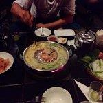 Lao-BBQ mit Chicken und sticky rice