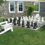 The outdoor chessboard