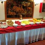 Het ruime buffet
