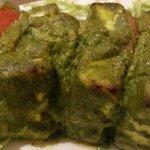 paneer tandoori with pudhina paste