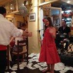 Spud enjoying the Greek dancing 2/8/14