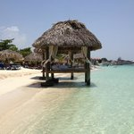 couples waterfront cabana