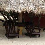 Quiet beach tiki area to relax