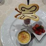 Dessert at the Hotel Monika