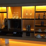 Nespresso coffee and wet bar