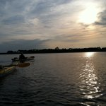 Sunset kayaking on Cape Fear River