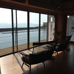 View on the onsen resting room