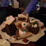 Sampler of dessert to choose from..