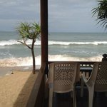 small patio where you have breakfast if in front bungalow