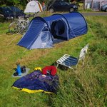Space for small tents, large tents and there were NO car vans = joy!