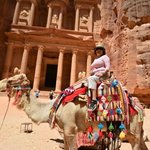 On camel in Petra