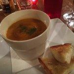 Honeyed pumpkin soup