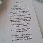 7 course menu