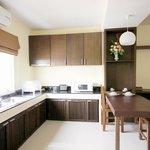 Kitchen area of Deluxe Suite