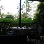 Main restaurant - outside seating area