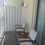The balcony/terrace