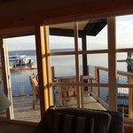 View of deck from inside Driftwood 12
