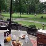 Saratoga Spa Park golf course next to patio dining area