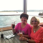 Best friend and I enjoying dinner at the Water Front Restaurant