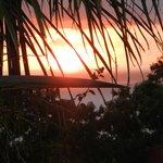 Coucher de soleil de notre bungalow