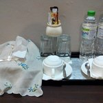 The complimentary mineral water n coffee
