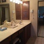 bathroom in master bedroom( vanity area)