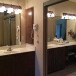 cabinet in bathroom in master bedroom