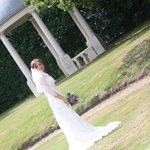 A very happy bride!