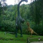 Combat de dinosaures