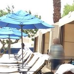 Each Cabana has 4 loungers with an umbrella