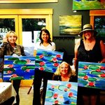 Sip & Paint waterlilies