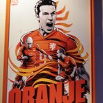 Affiche des équipes du mondial 2014 dans le pub : Hollanda !