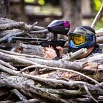 Natural bunkers at Paintball Sports outdoor fields