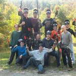Private group paintball party