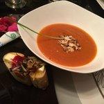 Papaya, ginger soup.