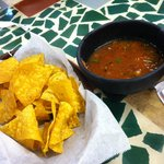 The yummy chips and fresh salsa