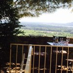 Beautiful views over Provence from the stone terrace