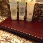 Used, half full shampoo andconditioner