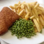 Plaice and chips
