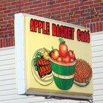 Apple Basket Downtown Macon MO street sign