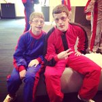 Our boys waiting for the helmets. Great time at iFly in Austin!