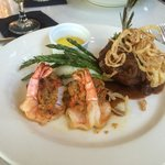 Filet mignon with stuffed shrimp