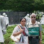 My parents at Korean War Veterans Memorial