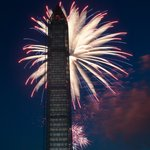 Washington Monument during 4th of July Fireworks